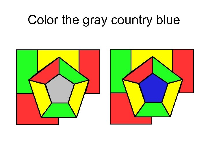 Color the gray country blue