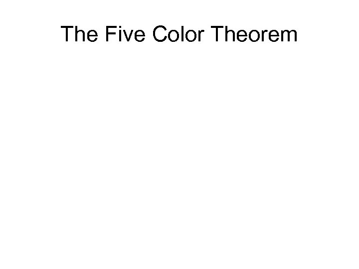 The Five Color Theorem
