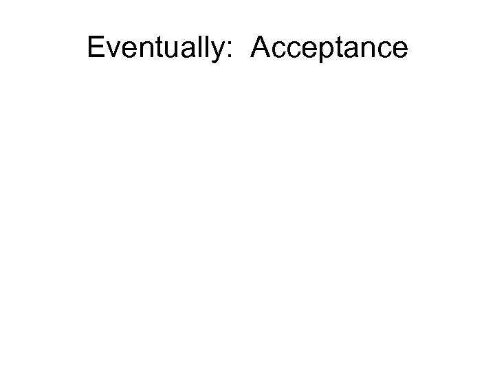 Eventually: Acceptance