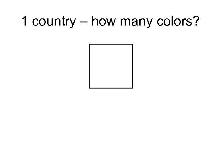 1 country – how many colors?