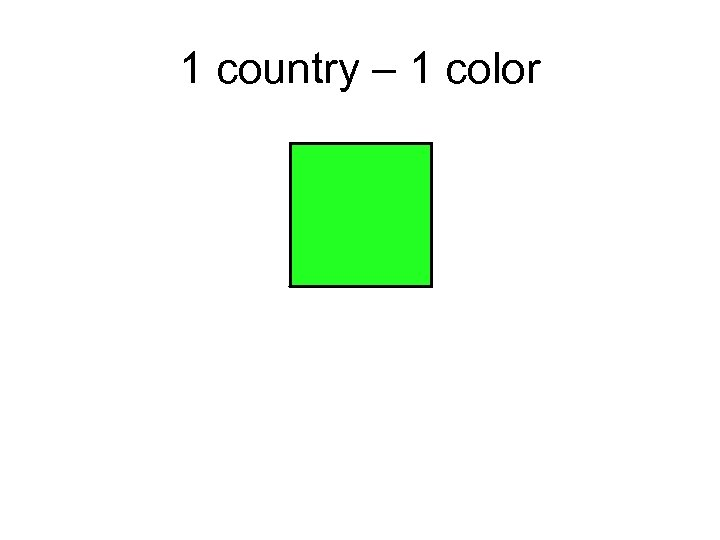 1 country – 1 color