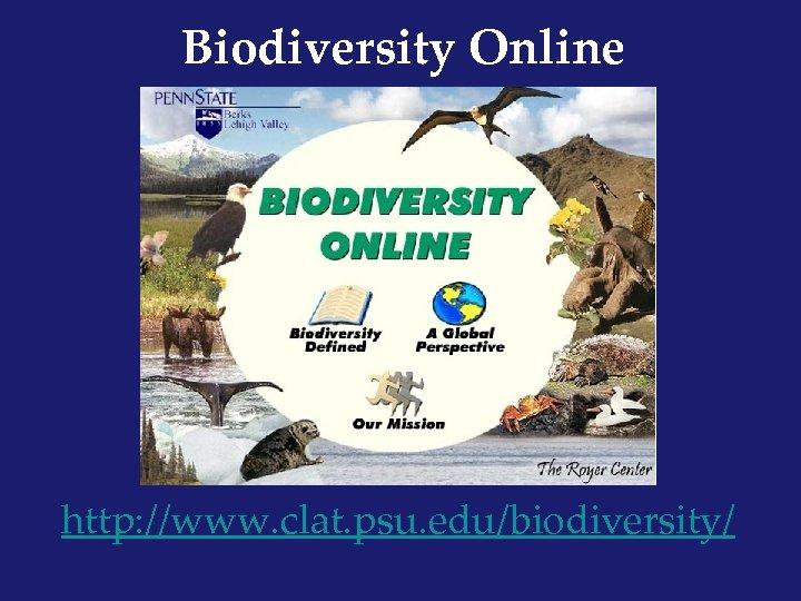 Biodiversity Online http: //www. clat. psu. edu/biodiversity/