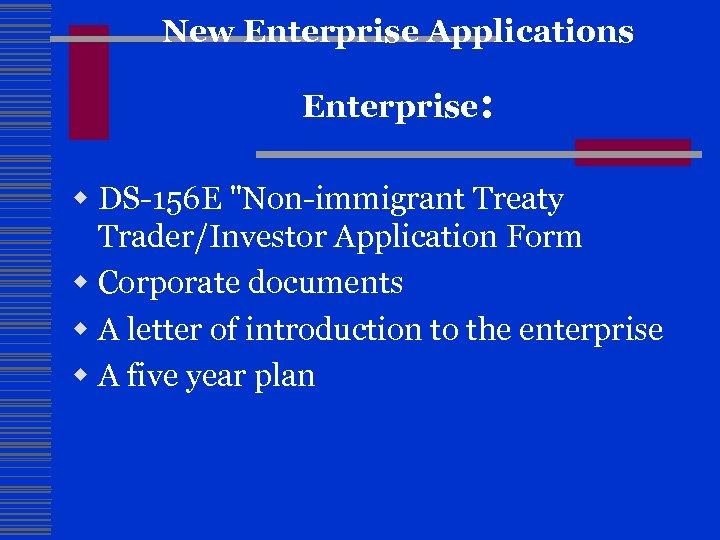 New Enterprise Applications Enterprise: w DS-156 E