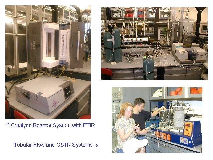 Catalytic Reactor System with FTIR Tubular Flow and CSTR Systems