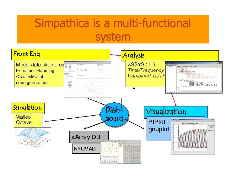 Simpathica is a multi-functional system Front End Analysis XSSYS (TL) Time/Frequency Combined TL/TF Model