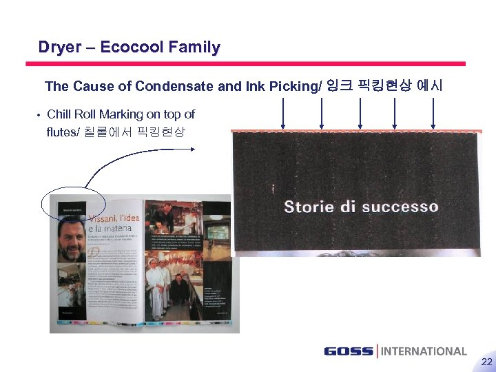 22 Dryer – Ecocool Family The Cause of Condensate and Ink Picking/ 잉크 픽킹현상