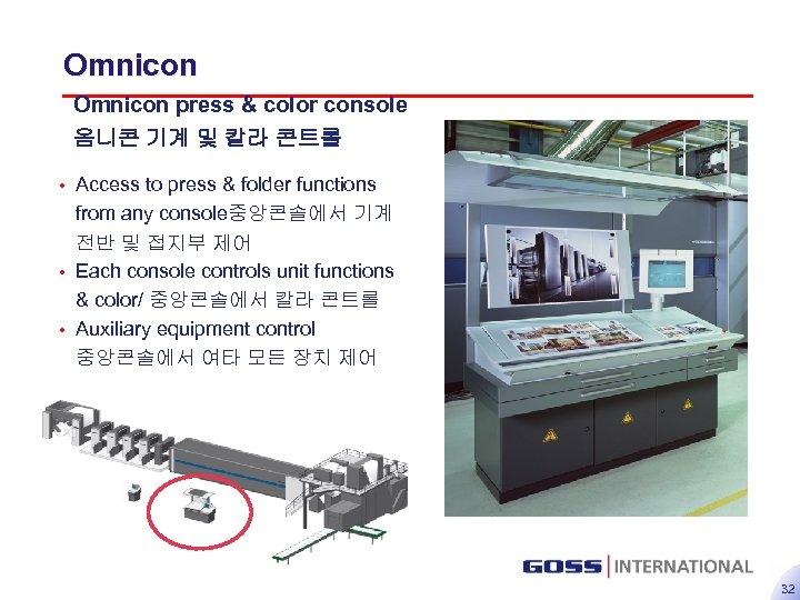Omnicon press & color console 옴니콘 기계 및 칼라 콘트롤 • Access to press