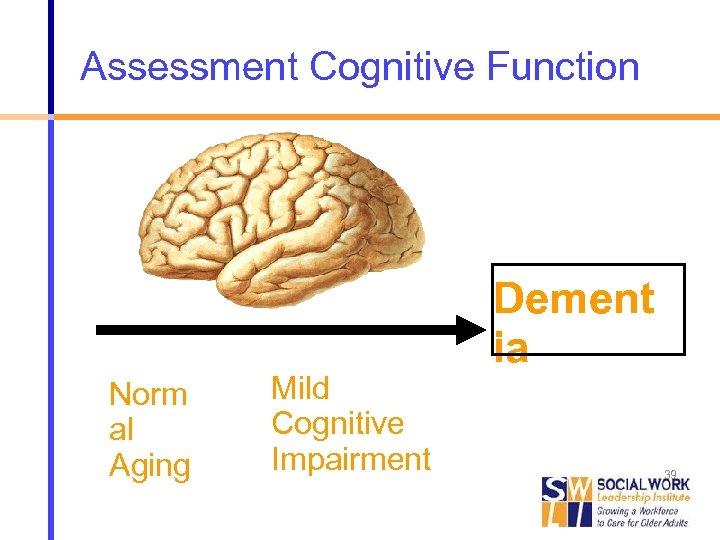 Assessment Cognitive Function Norm al Aging Mild Cognitive Impairment Dement ia Alzheimer 's Disease