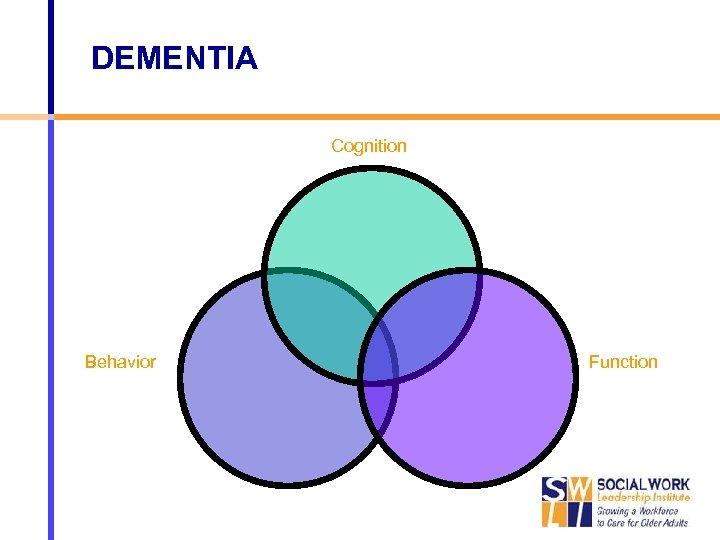 DEMENTIA Cognition Behavior Function