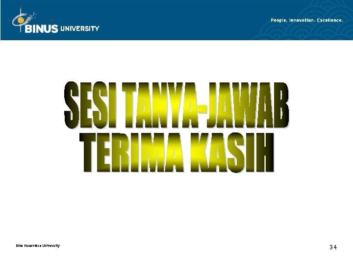 Bina Nusantara University 34