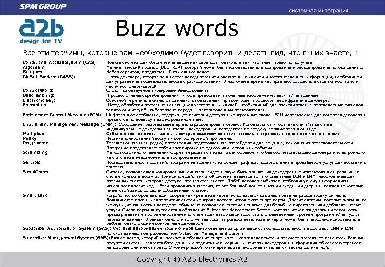 Buzz words Все эти термины, которые вам необходимо будет говорить и делать вид, что
