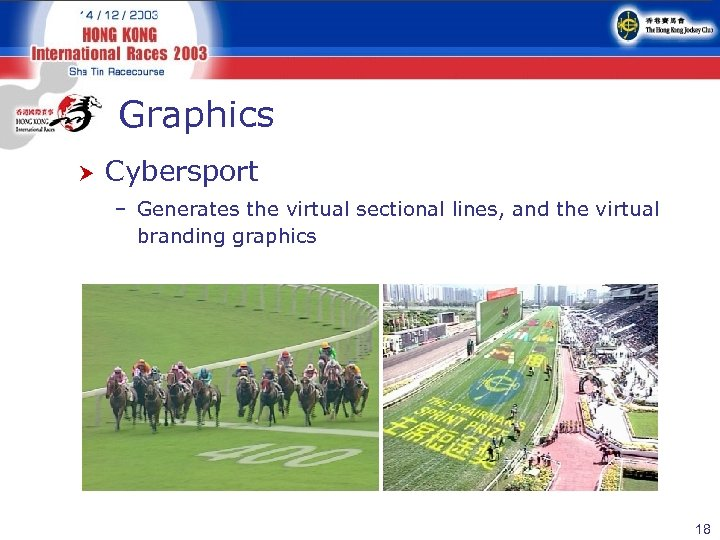 Graphics Cybersport – Generates the virtual sectional lines, and the virtual branding graphics 18