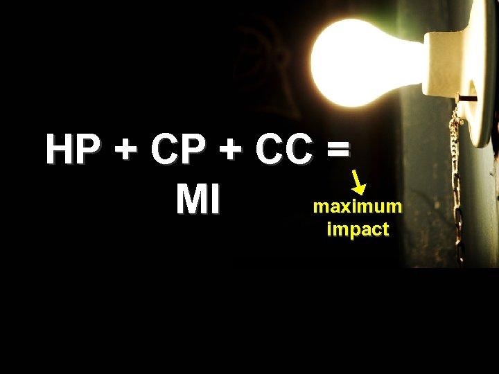 HP + CC = maximum MI impact