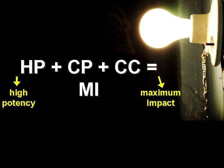 HP + CC = high maximum MI potency impact