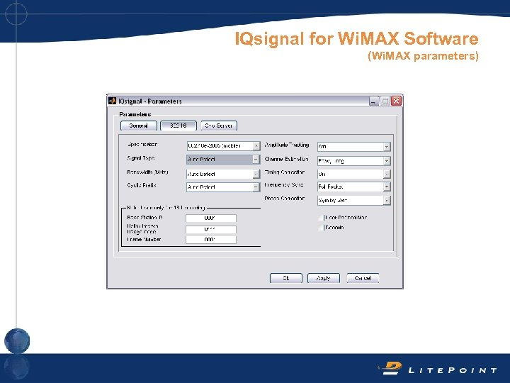 IQsignal for Wi. MAX Software (Wi. MAX parameters)