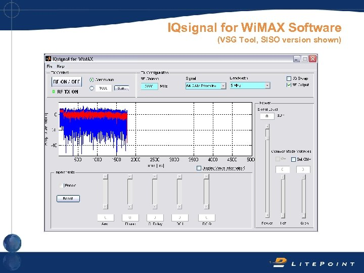 IQsignal for Wi. MAX Software (VSG Tool, SISO version shown)