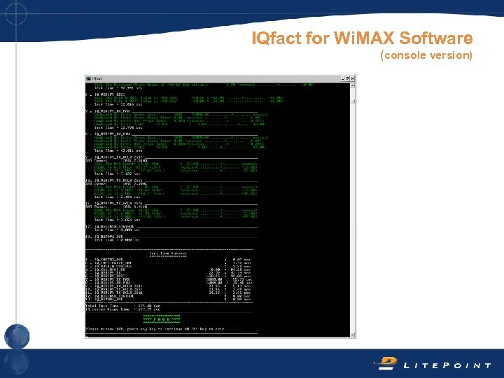 IQfact for Wi. MAX Software (console version)