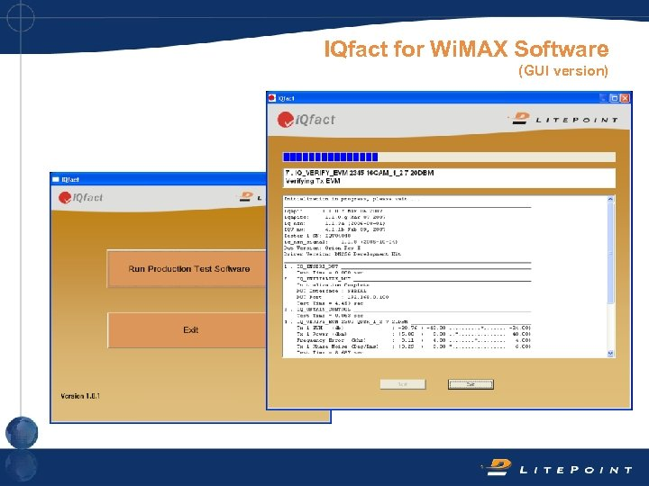 IQfact for Wi. MAX Software (GUI version)