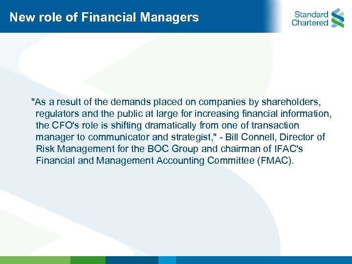 New role of Financial Managers