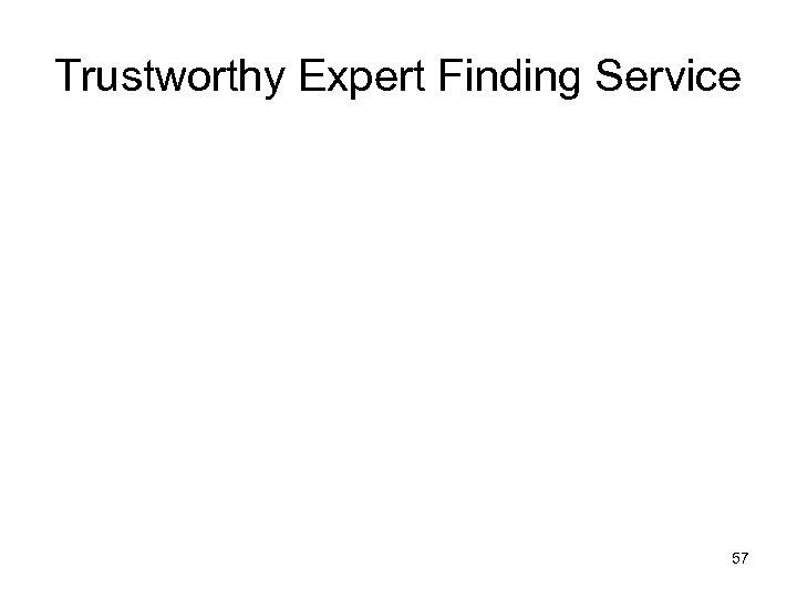 Trustworthy Expert Finding Service 57
