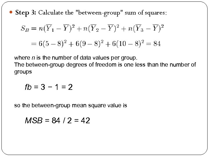 Step 3: Calculate the