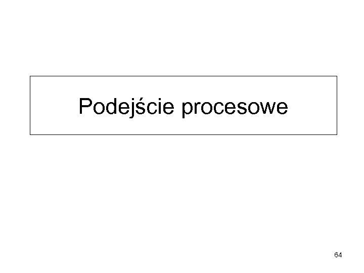 Podejście procesowe 64
