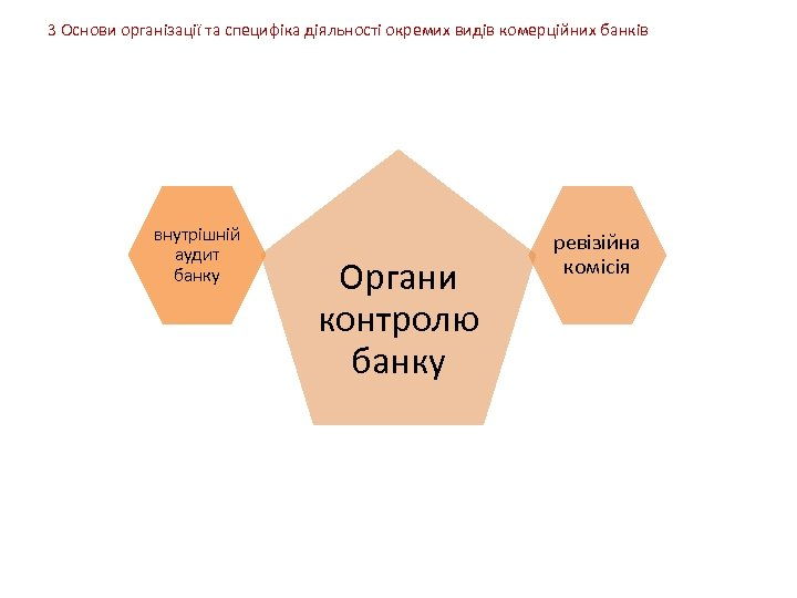 3 Основи організації та специфіка діяльності окремих видів комерційних банків внутрішній аудит банку Органи