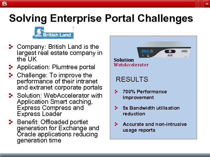 55 Solving Enterprise Portal Challenges Company: British Land is the largest real estate company