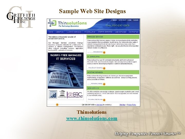 Sample Web Site Designs Thinsolutions www. thinsolutions. com