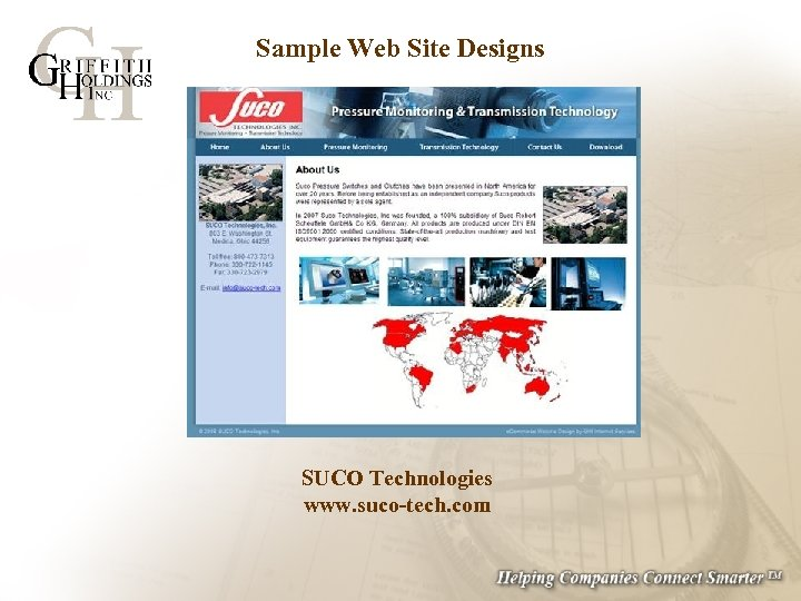 Sample Web Site Designs SUCO Technologies www. suco-tech. com