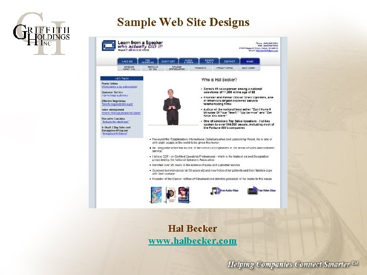 Sample Web Site Designs Hal Becker www. halbecker. com