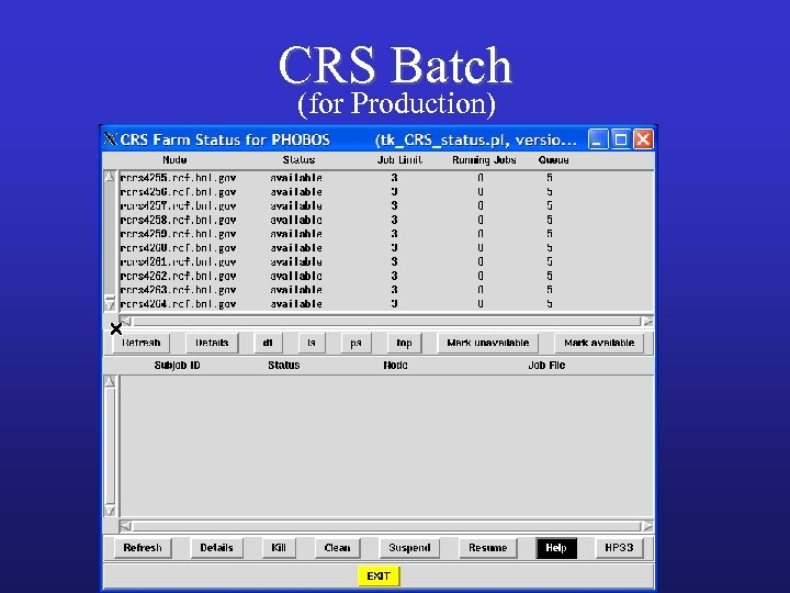 CRS Batch (for Production)