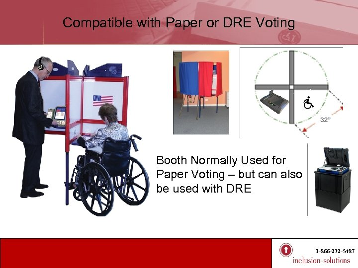 Compatible with Paper or DRE Voting Booth Normally Used for Paper Voting – but