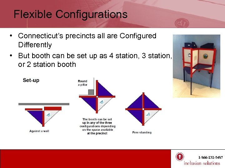 Flexible Configurations • Connecticut's precincts all are Configured Differently • But booth can be