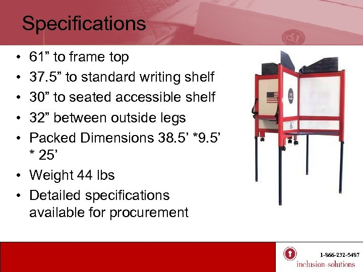 """Specifications • • • 61"""" to frame top 37. 5"""" to standard writing shelf"""