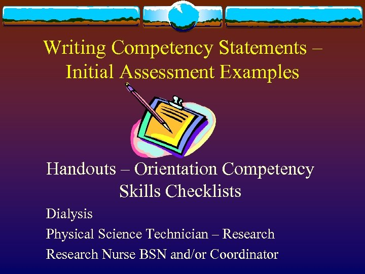 competency statement vi goal to maintain a commitment to professionalism 6 maintain a commitment to professionalism  child development portfolio and assessment preparation 6  discuss competency statements with your advisor.