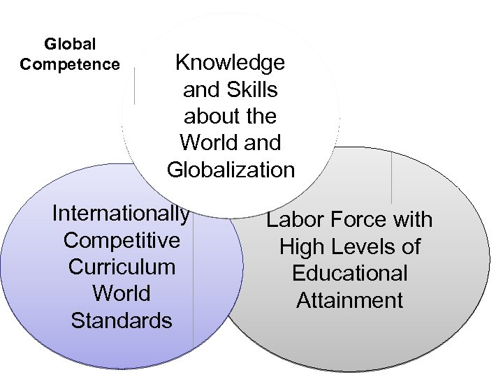 Global Competence Knowledge and Skills about the World and Globalization Internationally Competitive Curriculum World