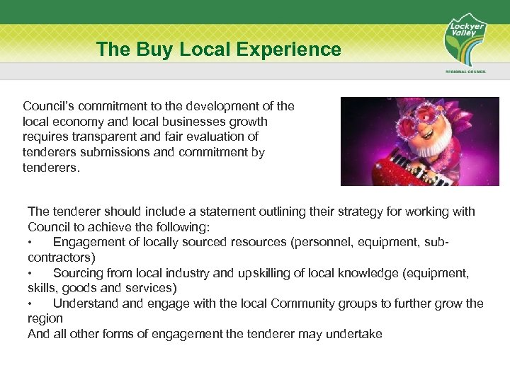 The Buy Local Experience Council's commitment to the development of the local economy and