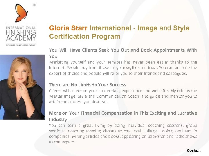 Gloria Starr International - Image and Style Certification Program You Will Have Clients Seek