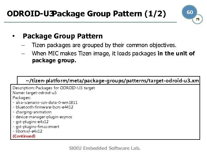 ODROID-U 3 Package Group Pattern (1/2) • 60 75 Package Group Pattern – –