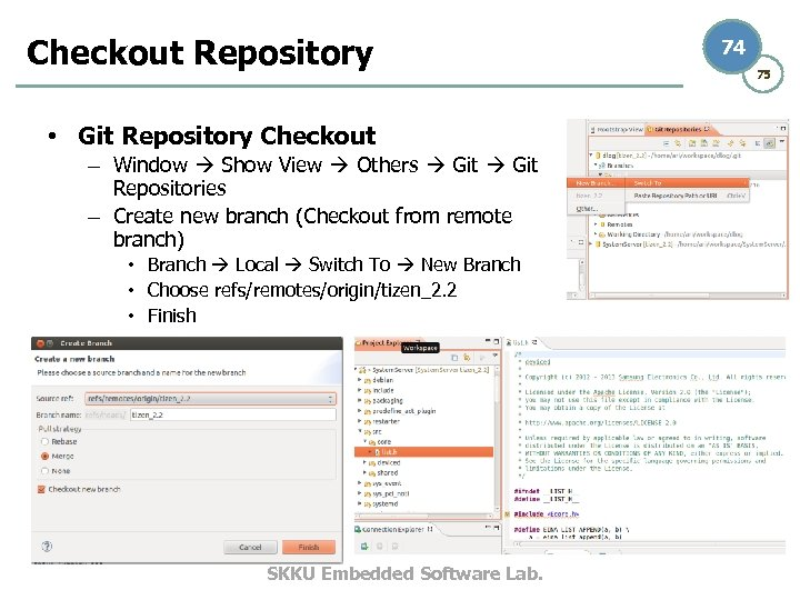 Checkout Repository • Git Repository Checkout – Window Show View Others Git Repositories –