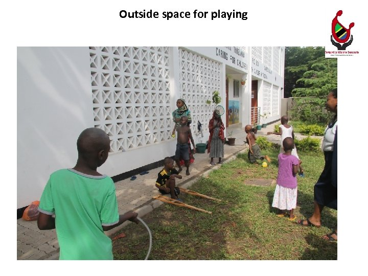 Outside space for playing
