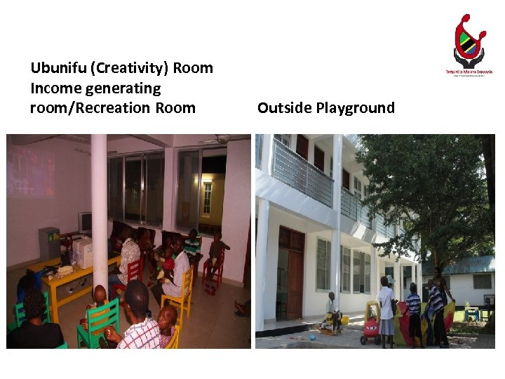 Ubunifu (Creativity) Room Income generating room/Recreation Room Outside Playground