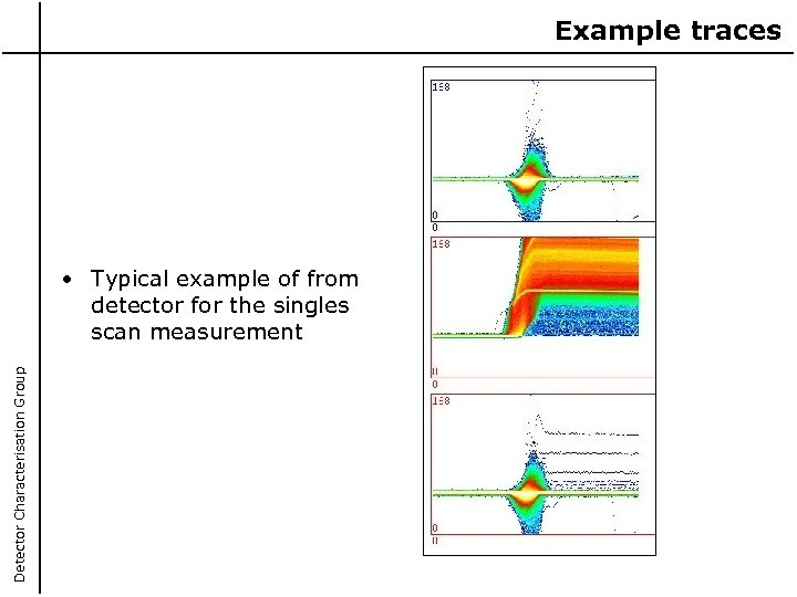 Example traces Detector Characterisation Group • Typical example of from detector for the singles