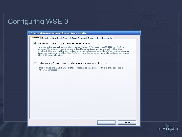 Configuring WSE 3