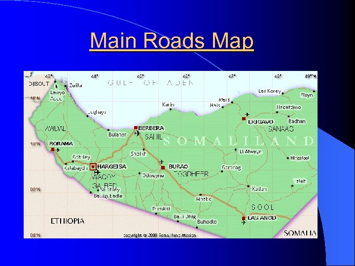 Main Roads Map