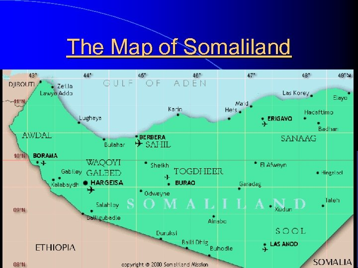 The Map of Somaliland