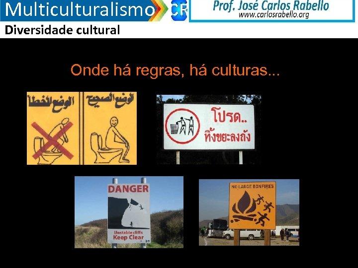 Multiculturalismo Diversidade cultural Onde há regras, há culturas. . . 3/18/2018