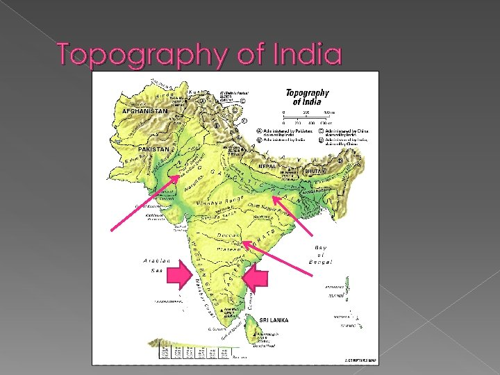 Topography of India