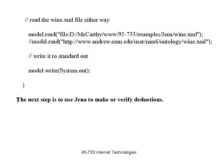 // read the wine. xml file either way model. read(